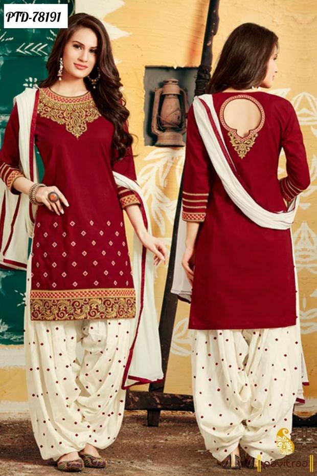 beautiful mahroon party wera dress