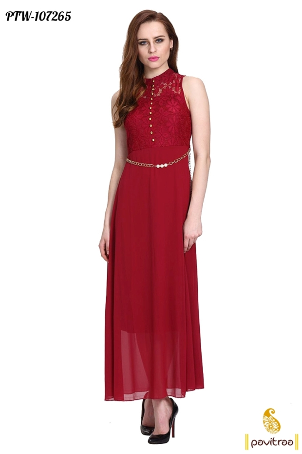 6d1689202c4 Red Color Valentine day Special western Dress online shopping with discount  price rate and COD in